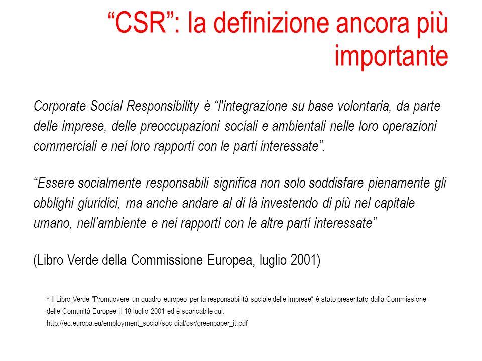 CSR : la definizione ancora più importante