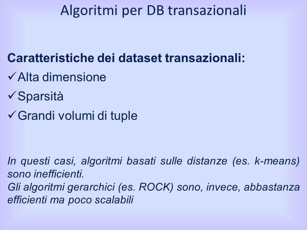 Algoritmi per DB transazionali