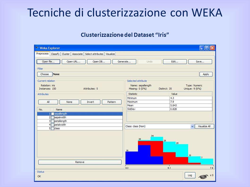 Clusterizzazione del Dataset Iris