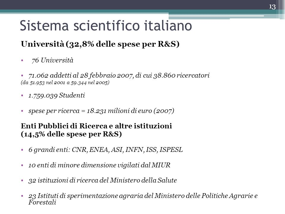 Sistema scientifico italiano