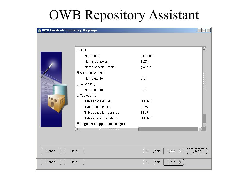 OWB Repository Assistant