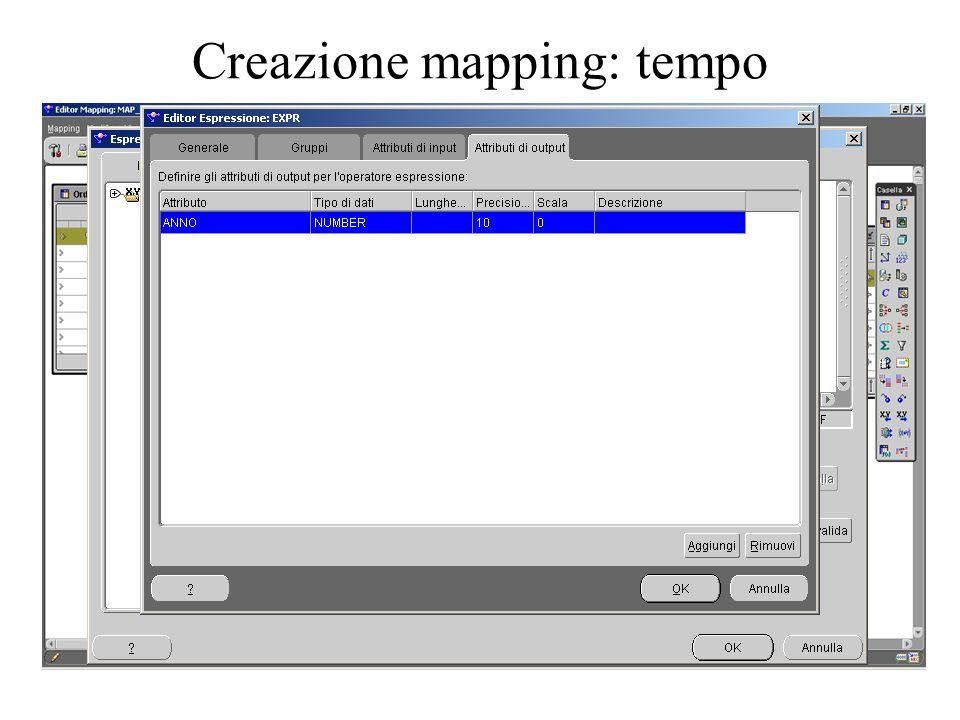 Creazione mapping: tempo