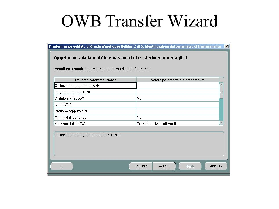 OWB Transfer Wizard