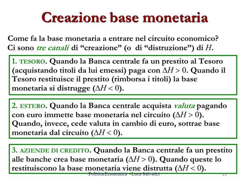 Creazione base monetaria