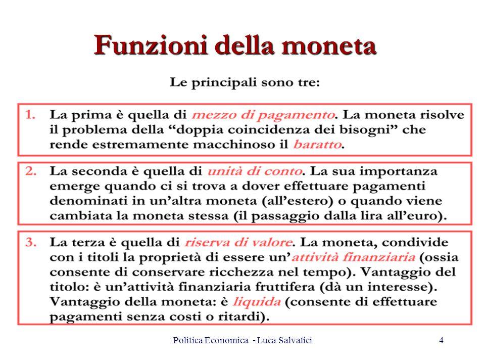 Politica Economica - Luca Salvatici