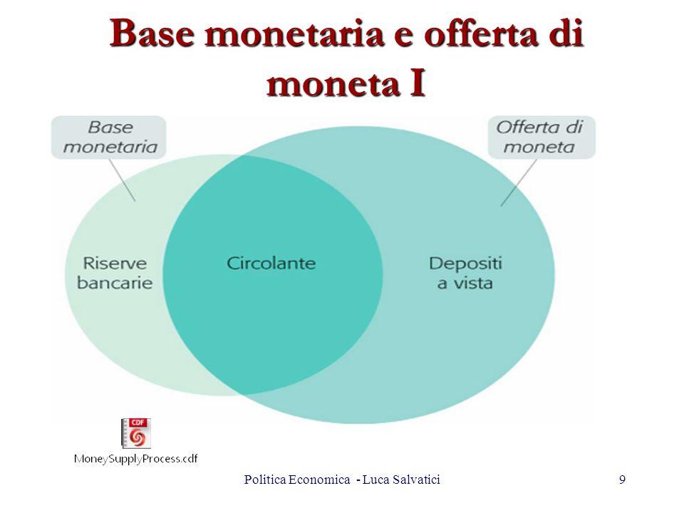 Base monetaria e offerta di moneta I