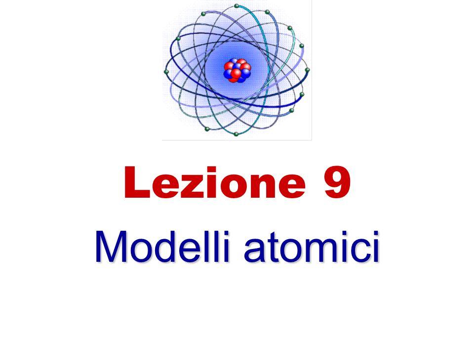 Lezione 9 Modelli atomici