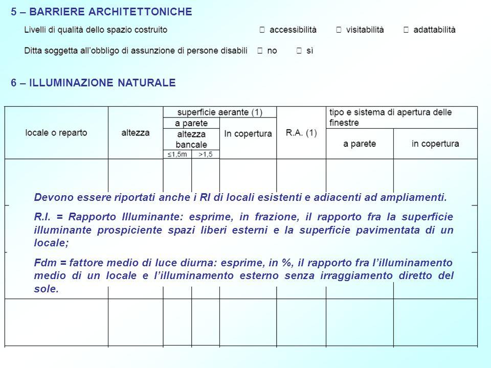 5 – BARRIERE ARCHITETTONICHE