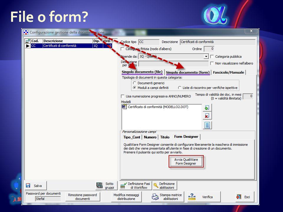 File o form