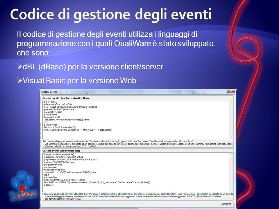 Codice di gestione degli eventi