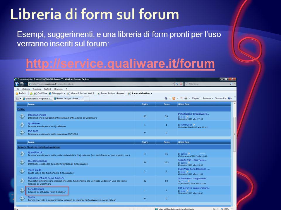 Libreria di form sul forum