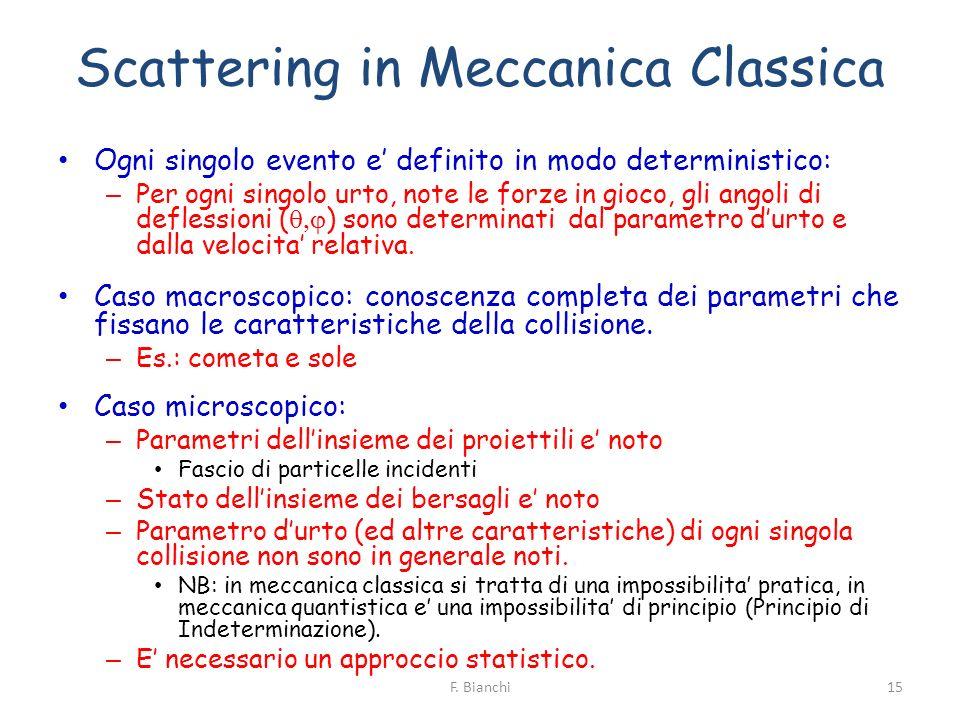 Scattering in Meccanica Classica