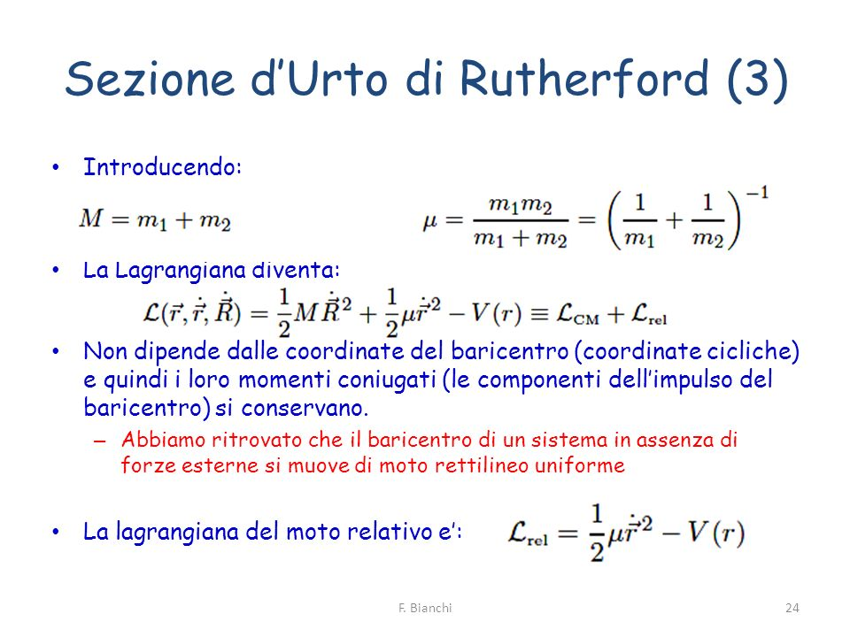 Sezione d'Urto di Rutherford (3)