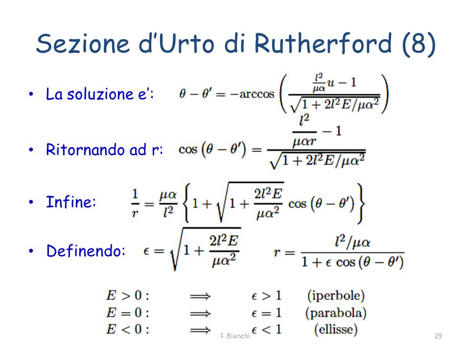 Sezione d'Urto di Rutherford (8)