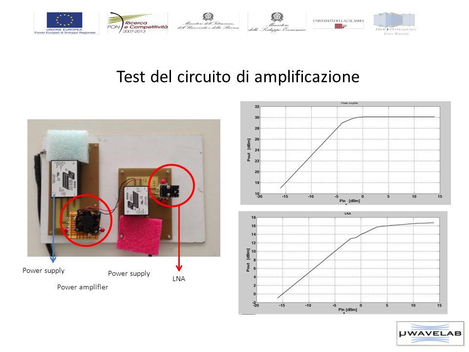 Test del circuito di amplificazione