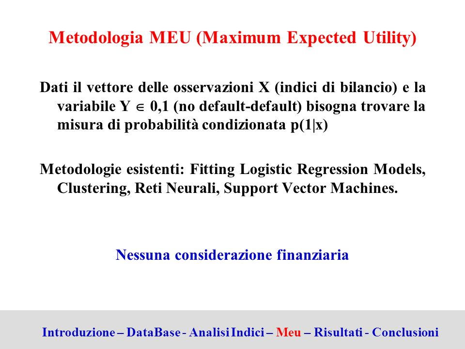Metodologia MEU (Maximum Expected Utility)