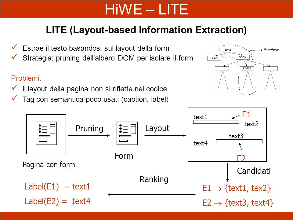 LITE (Layout-based Information Extraction)
