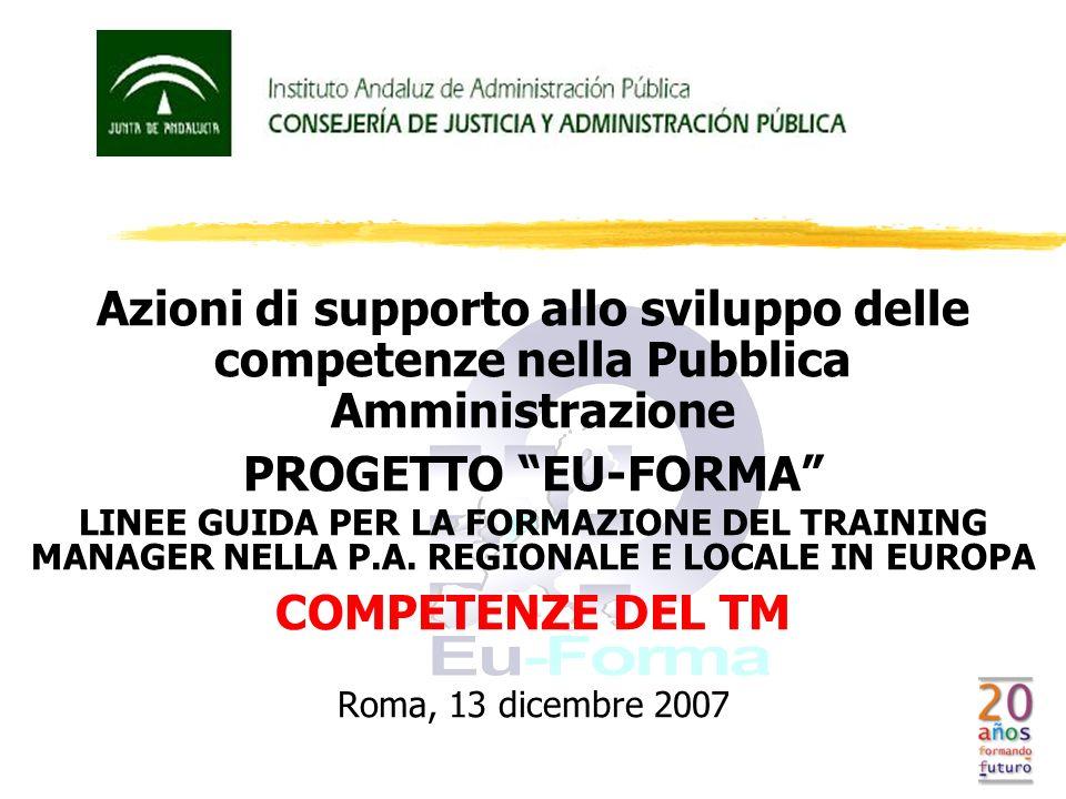 PROGETTO EU-FORMA COMPETENZE DEL TM