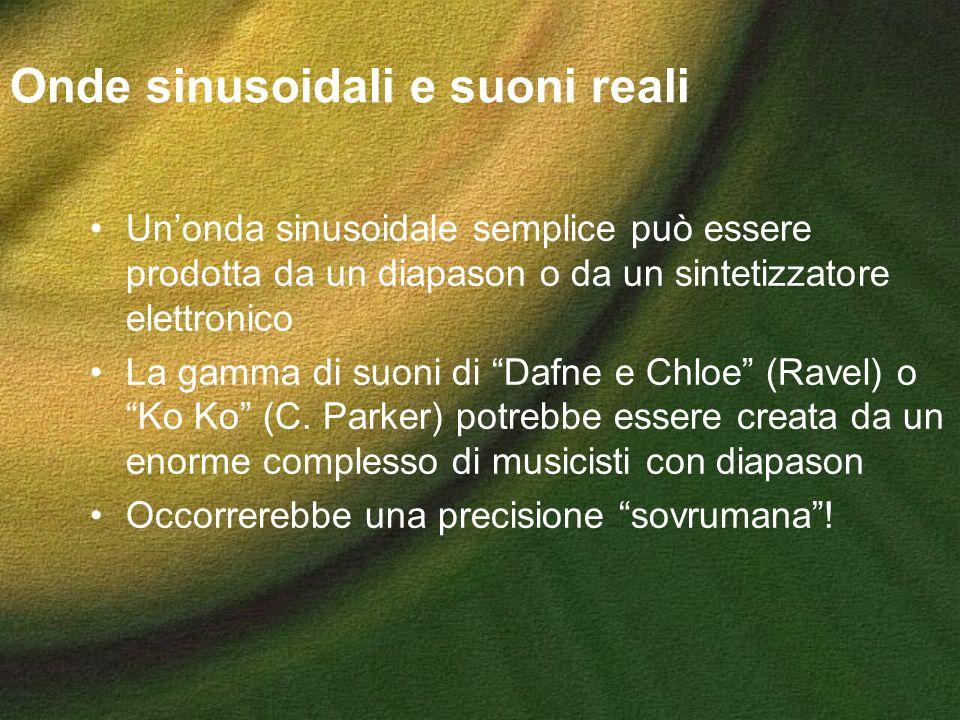 Onde sinusoidali e suoni reali