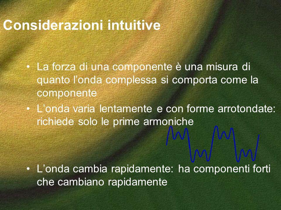 Considerazioni intuitive