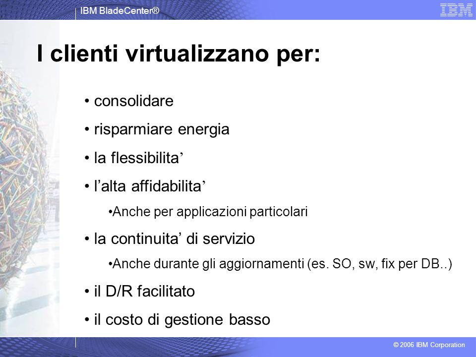 I clienti virtualizzano per: