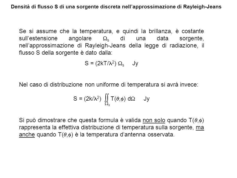 Nel caso di distribuzione non uniforme di temperatura si avrà invece: