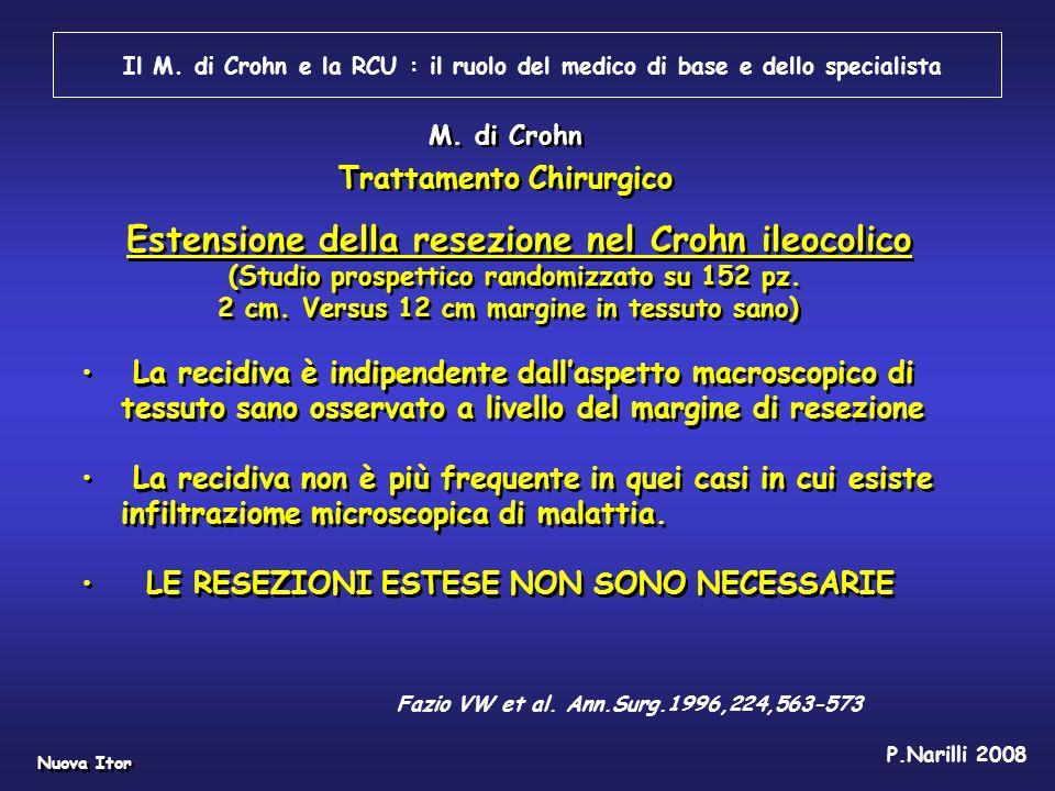 Estensione della resezione nel Crohn ileocolico