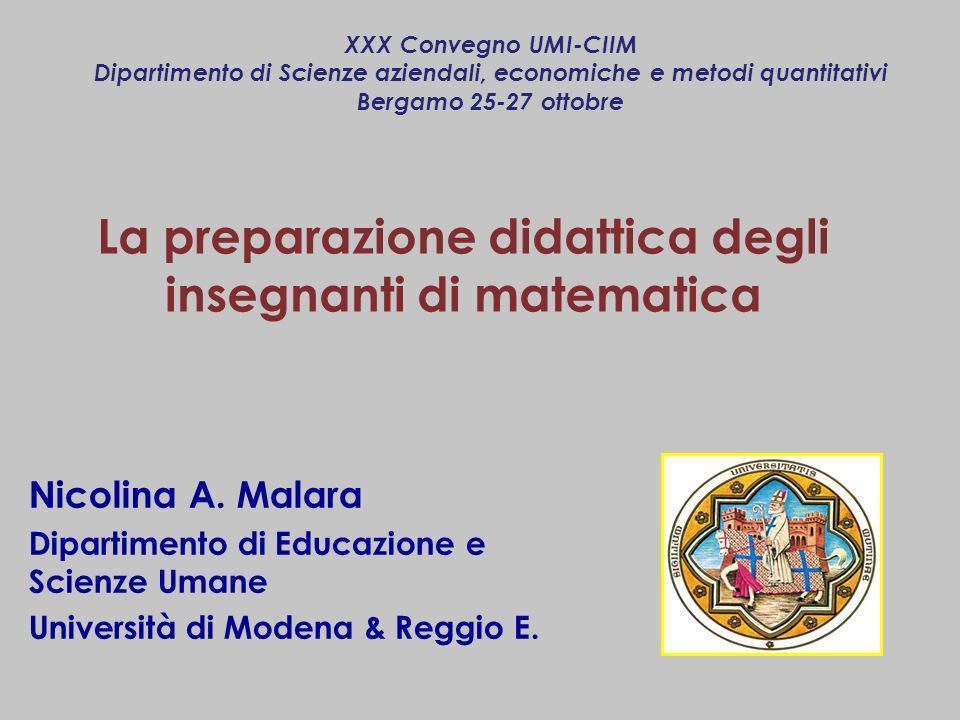 La preparazione didattica degli insegnanti di matematica
