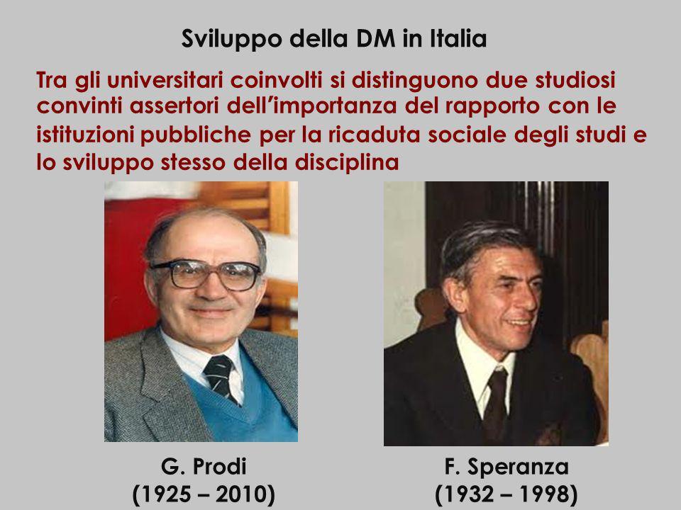 Sviluppo della DM in Italia