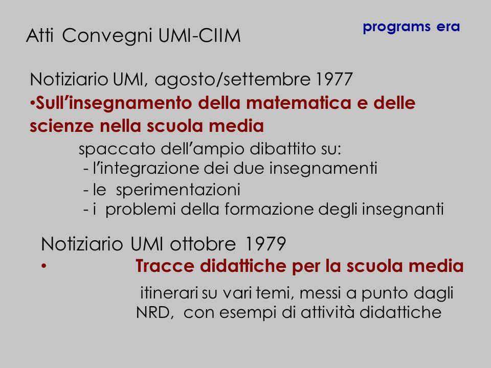 Atti Convegni UMI-CIIM