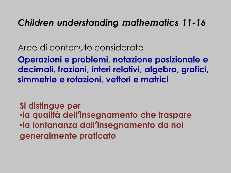 Children understanding mathematics 11-16