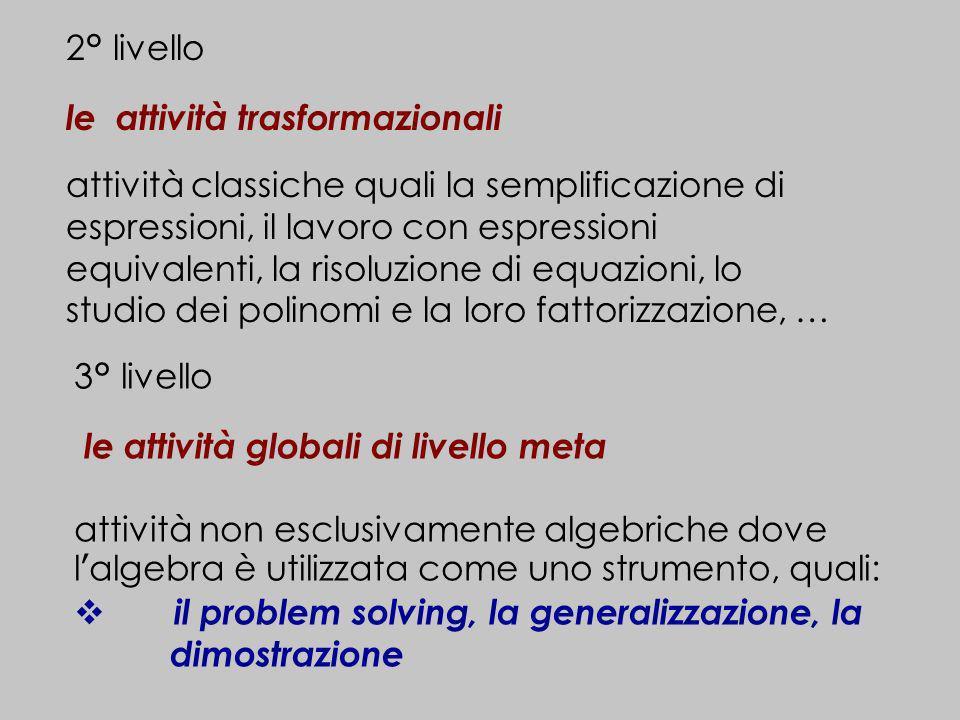 2° livello le attività trasformazionali.