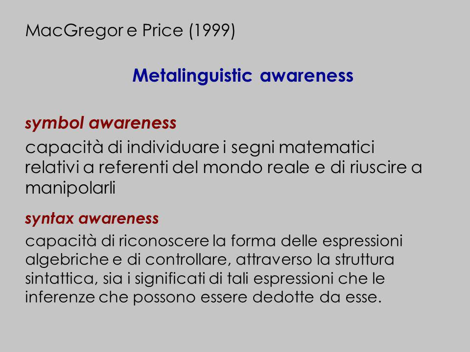 Metalinguistic awareness