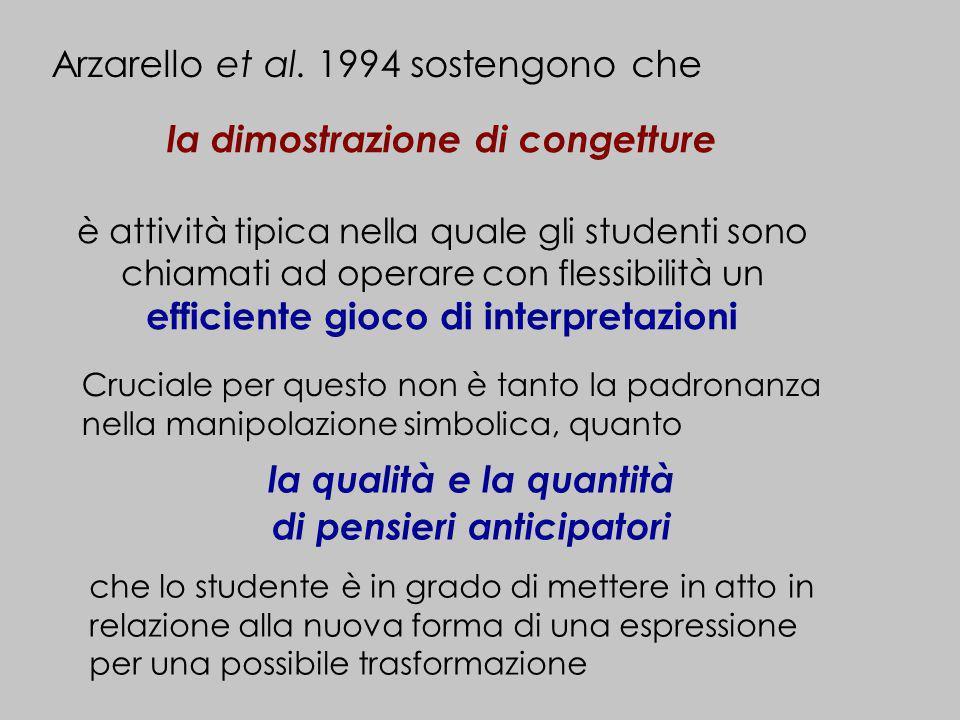 Arzarello et al. 1994 sostengono che
