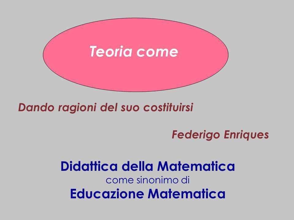 Didattica della Matematica Educazione Matematica