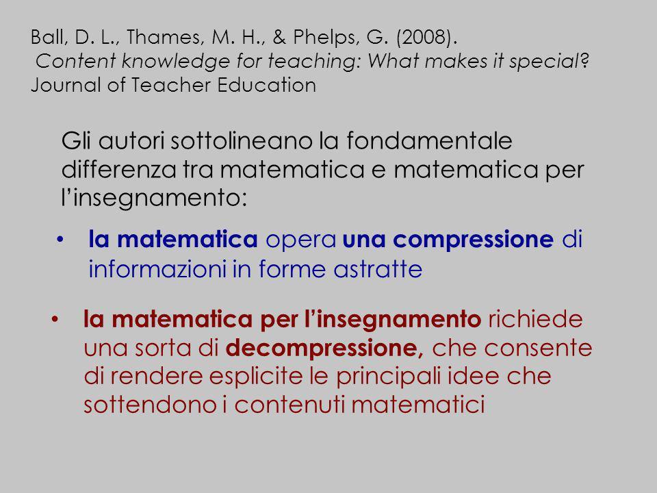 la matematica opera una compressione di informazioni in forme astratte