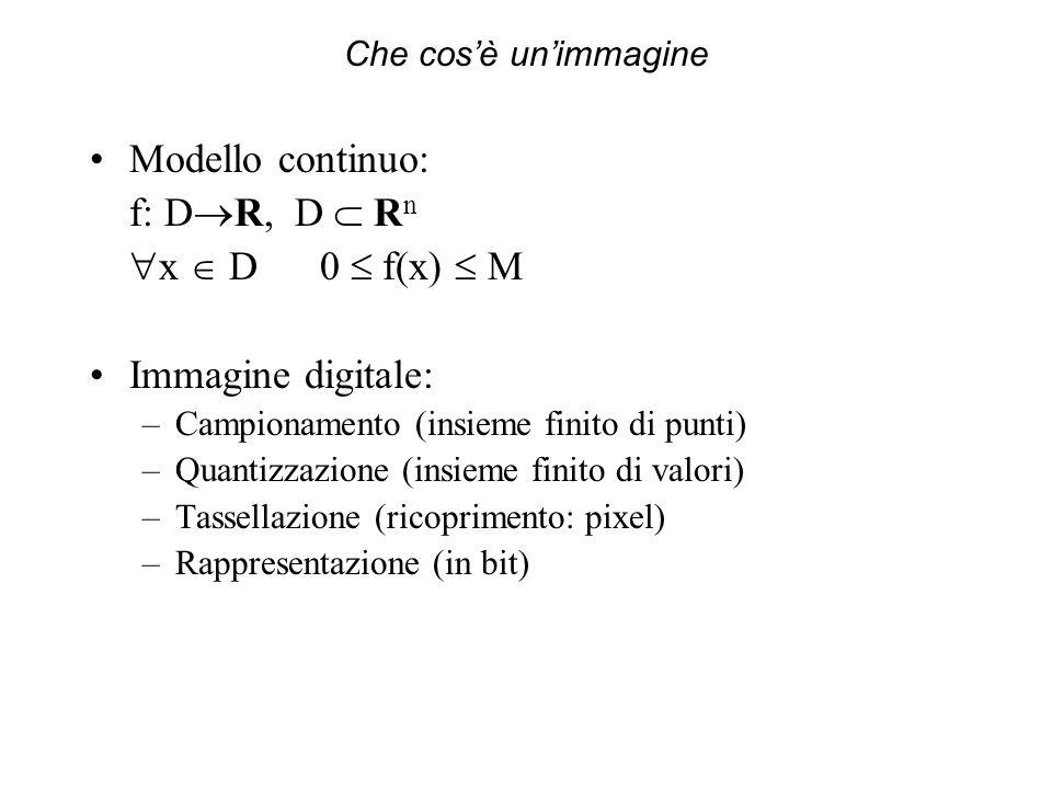 Modello continuo: f: DR, D  Rn x  D 0  f(x)  M