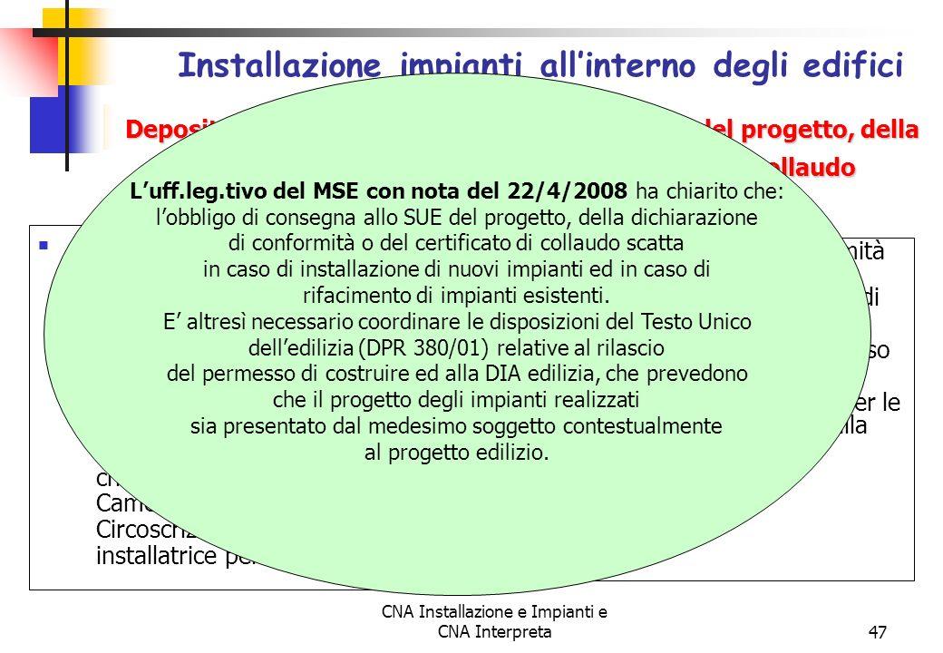 Installazione impianti all'interno degli edifici (Art.11)