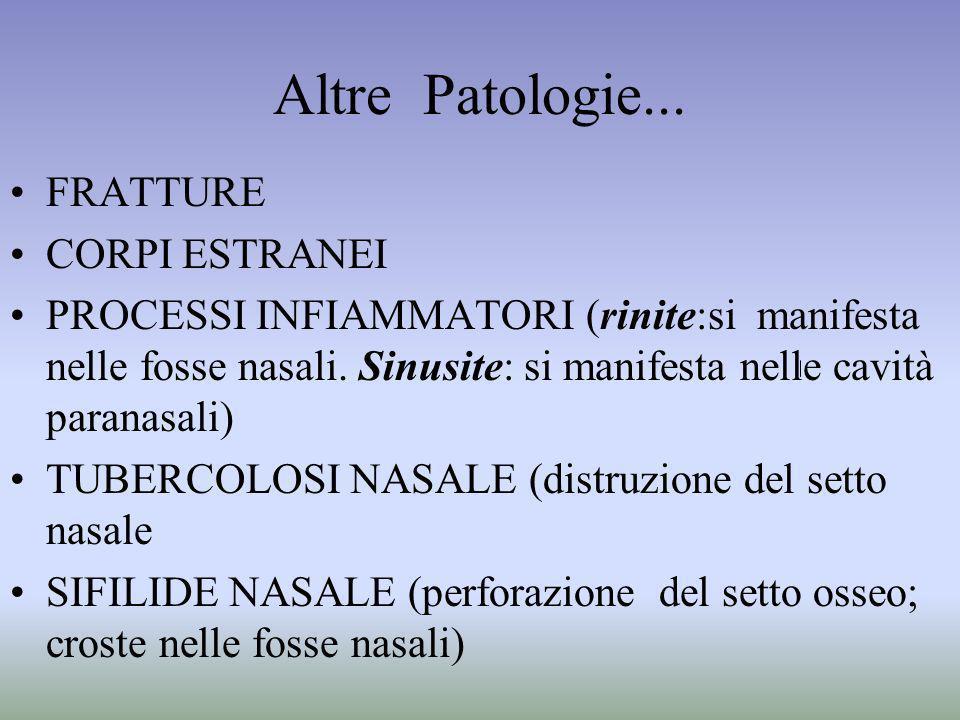 Altre Patologie... FRATTURE CORPI ESTRANEI