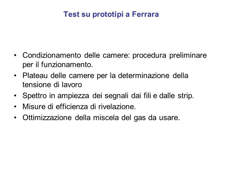 Test su prototipi a Ferrara