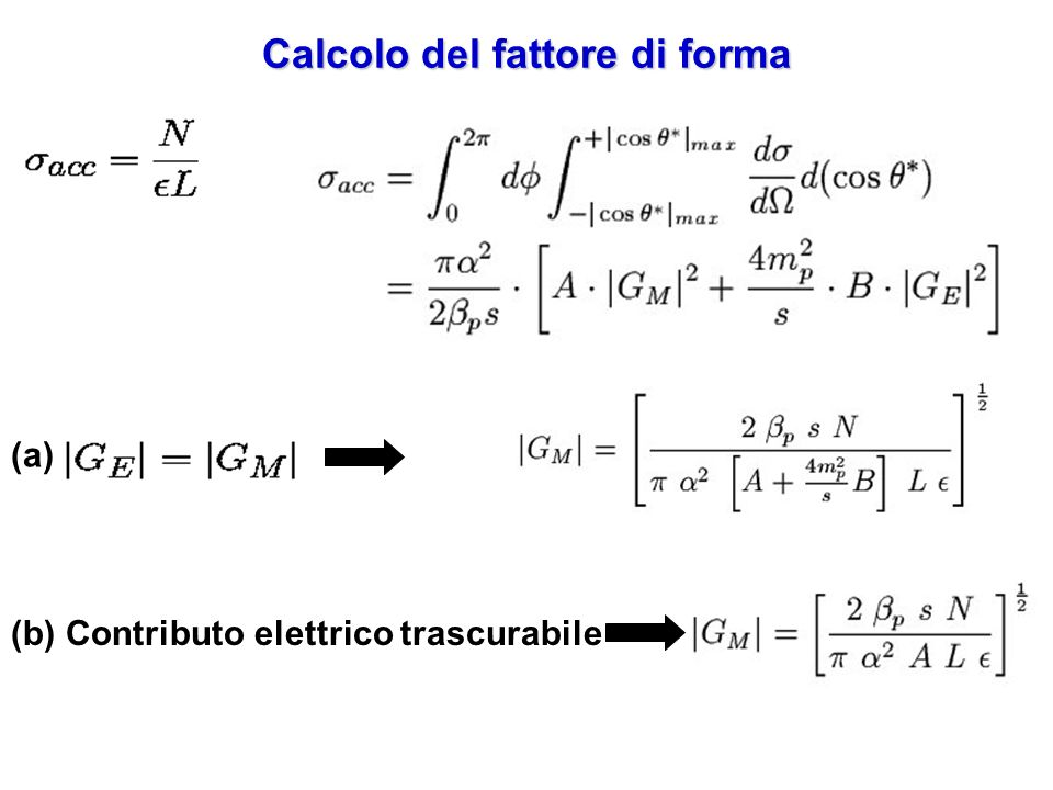 Calcolo del fattore di forma