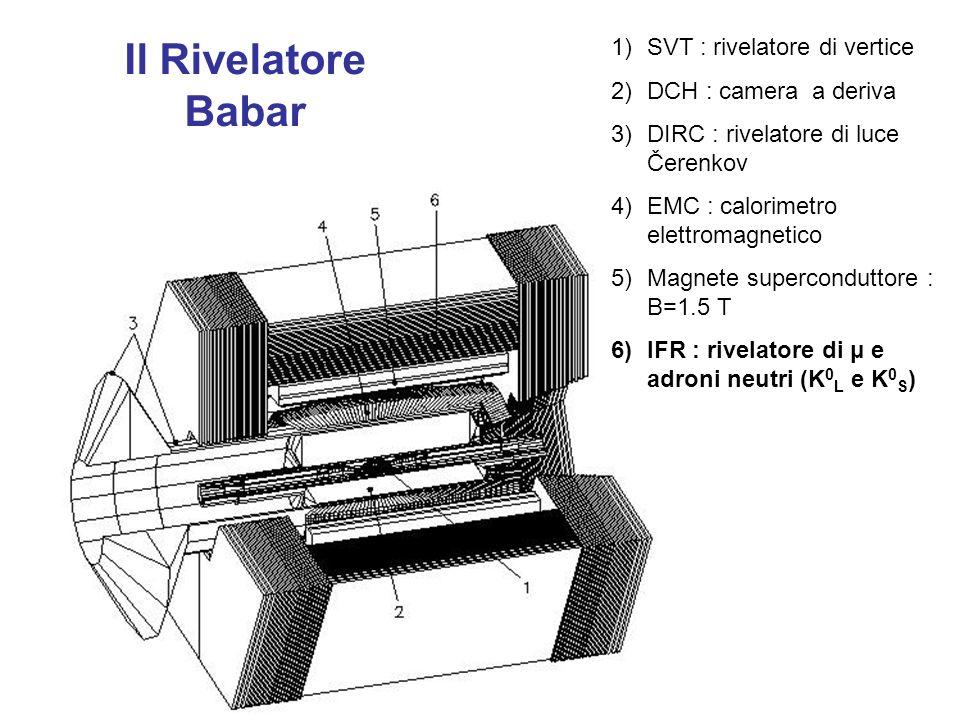 Il Rivelatore Babar SVT : rivelatore di vertice DCH : camera a deriva