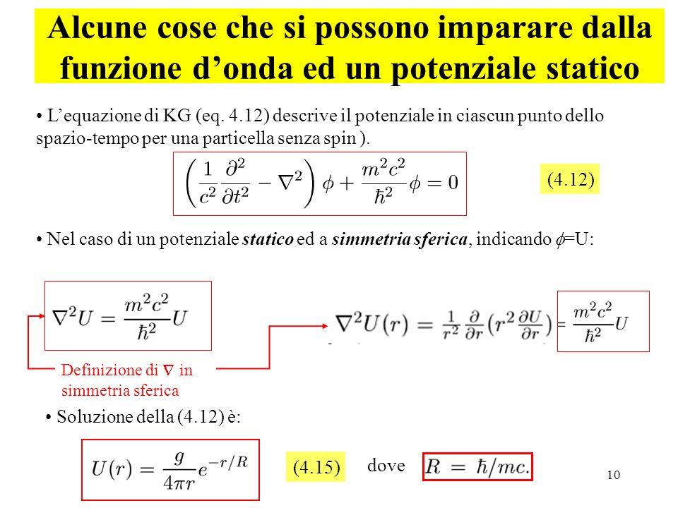 Alcune cose che si possono imparare dalla funzione d'onda ed un potenziale statico