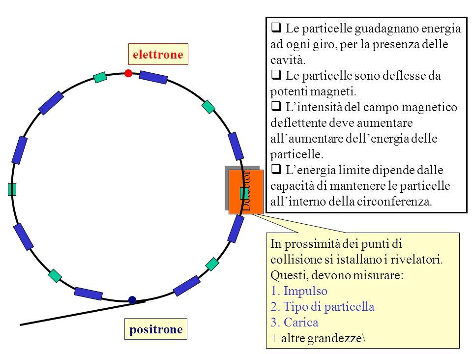 Le particelle sono deflesse da potenti magneti.