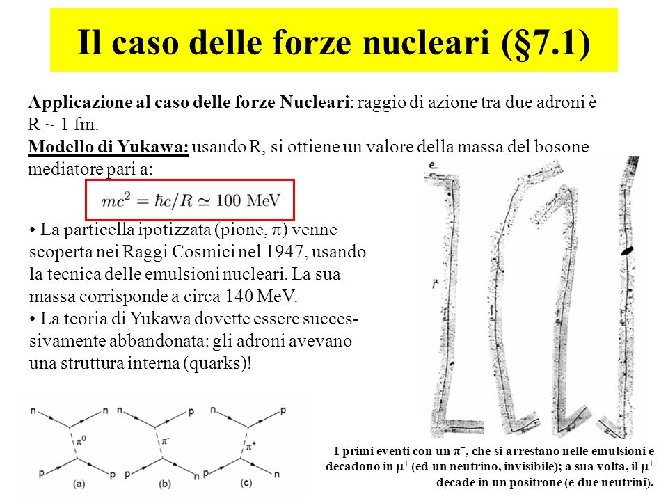 Il caso delle forze nucleari (§7.1)