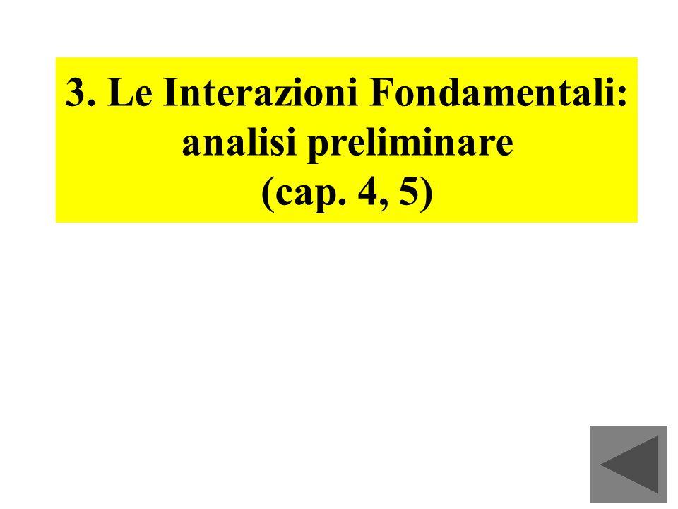 3. Le Interazioni Fondamentali: analisi preliminare
