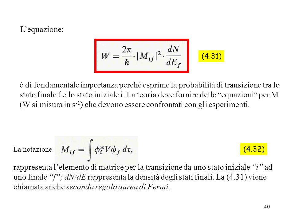 L'equazione: (4.31)