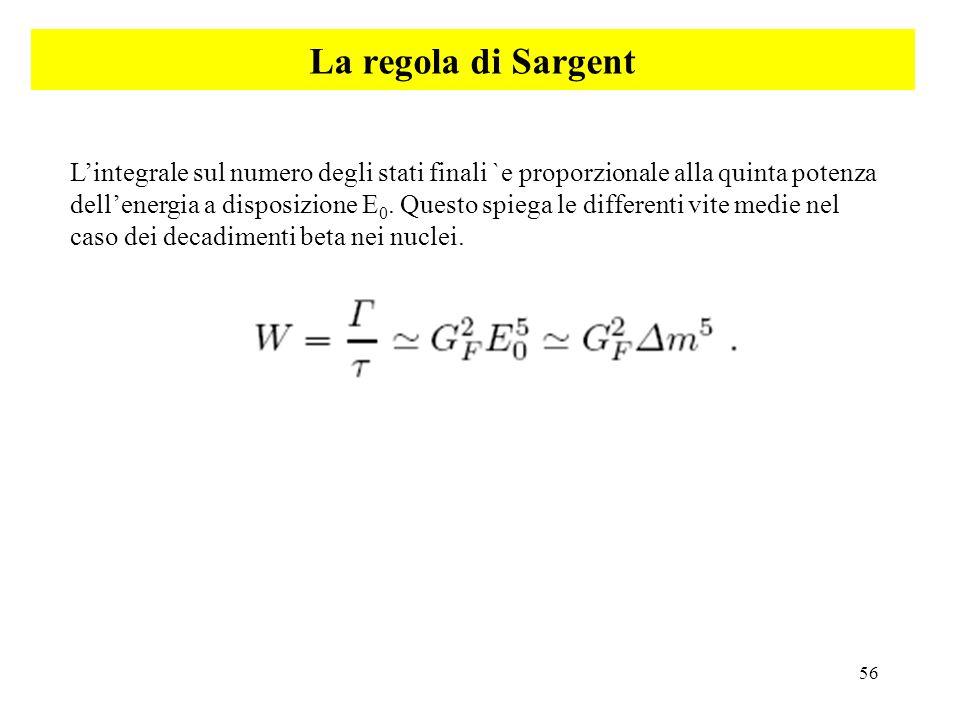La regola di Sargent