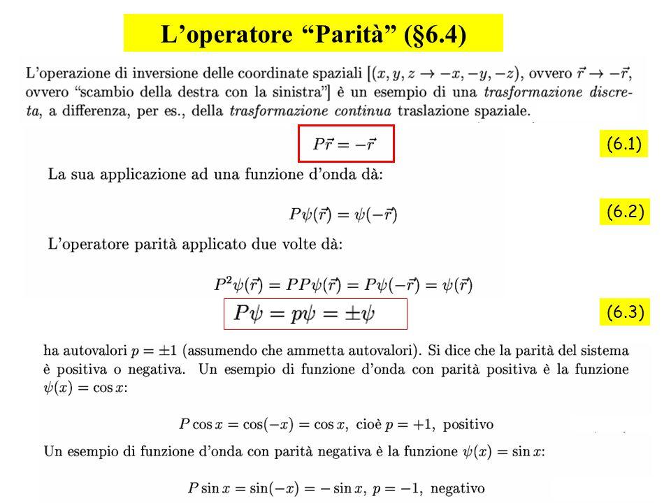 L'operatore Parità (§6.4)