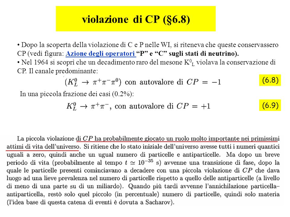 violazione di CP (§6.8)